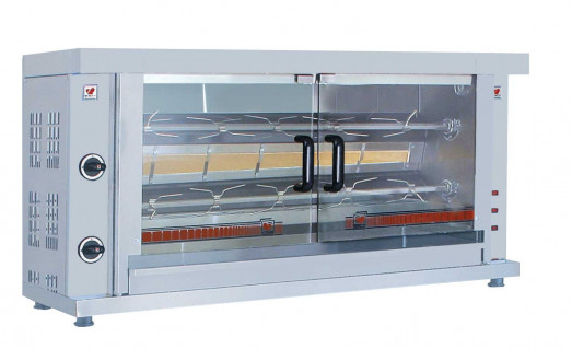 North K2 - 2 spit - 10 bird Gas Chicken rotisserie