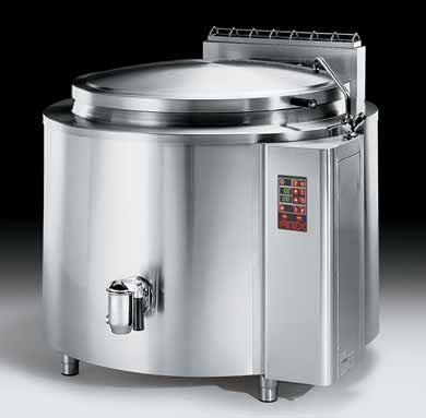 Firex Fixpan PFIG Gas Indirect heat boiling pans - 100, 150, 220, 342, or 480 Litre capacity - Electronic controls