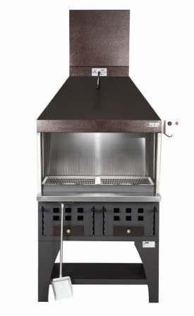 Peva BL70 Charcoal chargrill with Decorative canopy