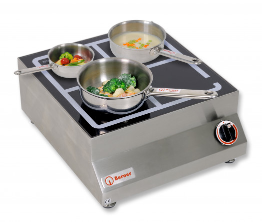 Berner BI1SP - Countertop Saute Induction hob - System 45