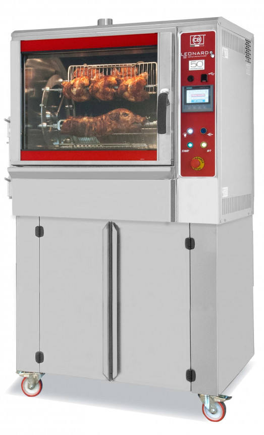 Leonardo 600/6 - 6 spit 24 Bird, Infra Red Rotisserie with programmable controls and wash system