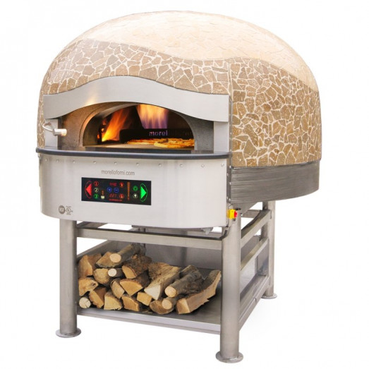 Morello Forni FGRI Hybrid Gas/Wood Dome pizza oven - Rotating oven floor