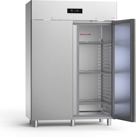 Sagi NE150 Upright Double door fridge - 2/1gn