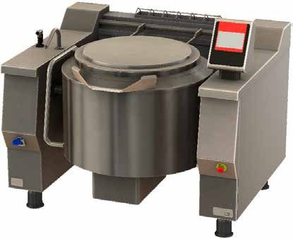 Firex Basket PRIG..V1 - 105, 130, 180, 242, 301 or 467 Ltrs  Gas Indirect heat tilting kettles with Touchscreen programmable controls.
