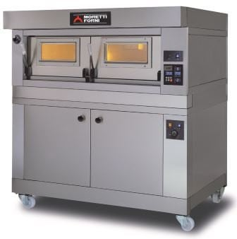 "Moretti Forni P120E/B-300 - 12"" Crown Single deck Electric Bakery oven + Proofer and Canopy"