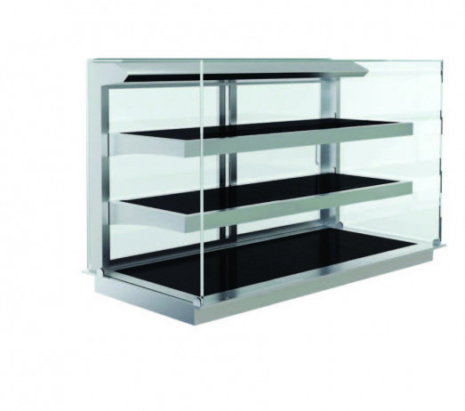 Elegance 8046751A Drop In Ceran 3 Tier Heated Display - Self Service - 3 x 1/1gn
