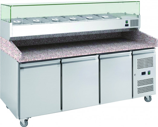 Chefsrange PP3+ - 3 Door Pizza Prep Counter