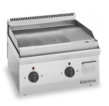 Giorik LGE6963X Slimline Electric griddle - 1/3 Ribbed + 2/3 Smooth