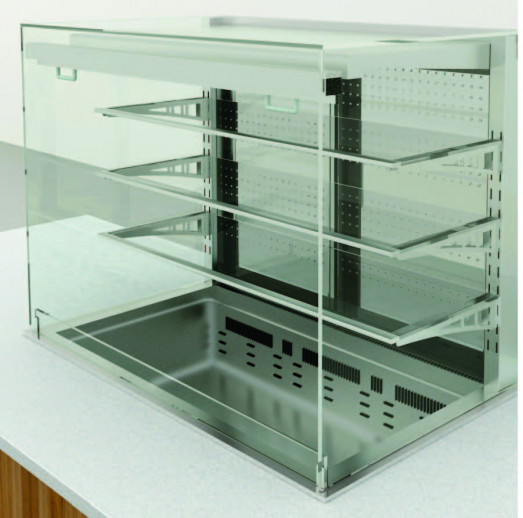 Elegance 8046532 Drop In 3 Tier Refrigerated display + Dolewell base - Self serve  -  2 x 1/1gn