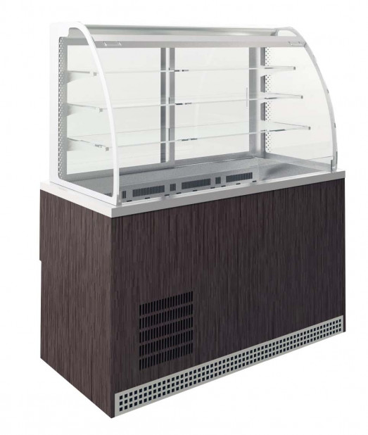 Emainox Self Supreme 8087390 - 3 Shelves + Base  Refrigerated Grab & Go display with dolewell