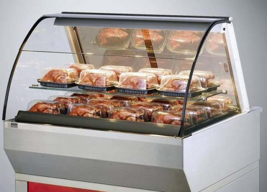 Ubert Classic DHT Countertop or Floorstanding heated display with Convected heat & Humidity